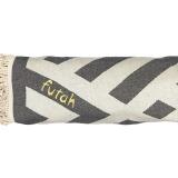Futah_Beach_Towel_ROUND_Benagil_Black&White;_4_min