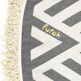 Futah_Beach_Towel_ROUND_Benagil_Black&White;_3_min