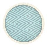 Futah_Beach_Towel_ROUND_Benagil_Mint&Grey;_1_min