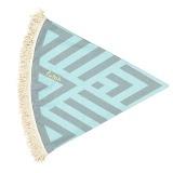 Futah_Beach_Towel_ROUND_Benagil_Mint&Grey;_2_min