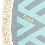 Futah_Beach_Towel_ROUND_Benagil_Mint&Grey;_3_min