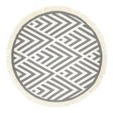 Futah_Beach_Towel_ROUND_Benagil_Black&White;_1_min
