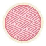 Futah_Beach_Towel_ROUND_Benagil_Pink&Red;_1_min
