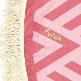 Futah_Beach_Towel_ROUND_Benagil_Pink&Red;_3_min