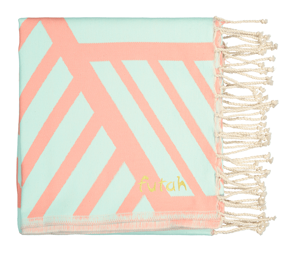 Futah_Beach Towel_Comporta_Pink_Mint_2_B