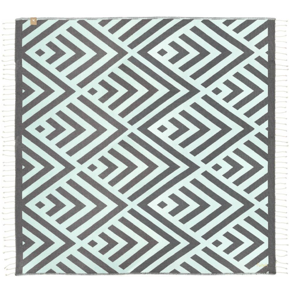 Futah_Beach_Towel_XL_Benagil_Mint_Grey_1