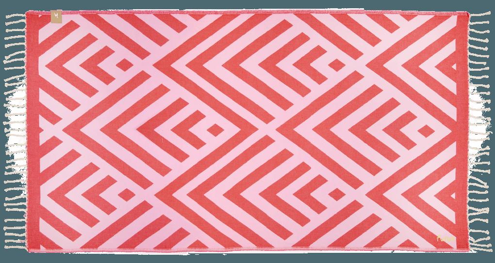 Futah_Beach_Towel_Benagil_Pink&Red;_1