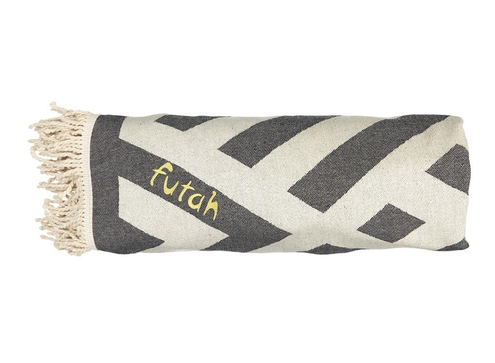 Futah_Beach_Towel_ROUND_Benagil_Black&White;_4