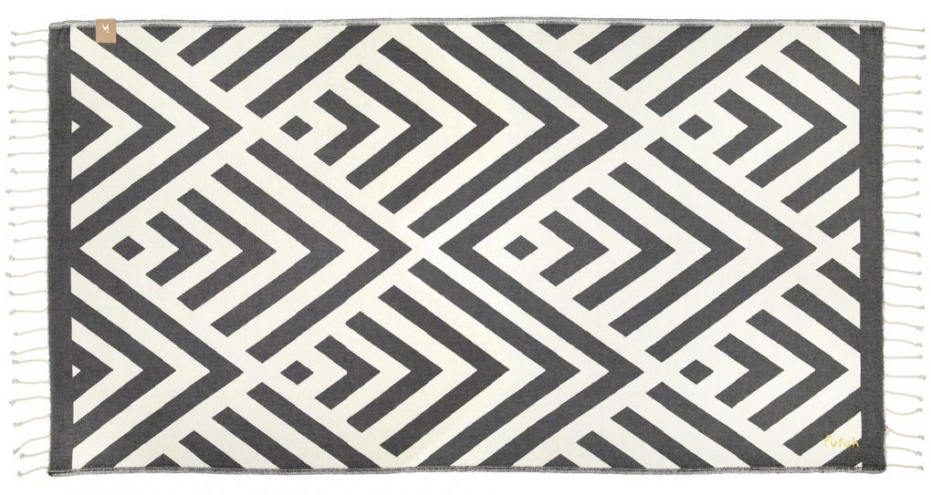 Futah_Beach_Towel_Benagil_Black&White;_1