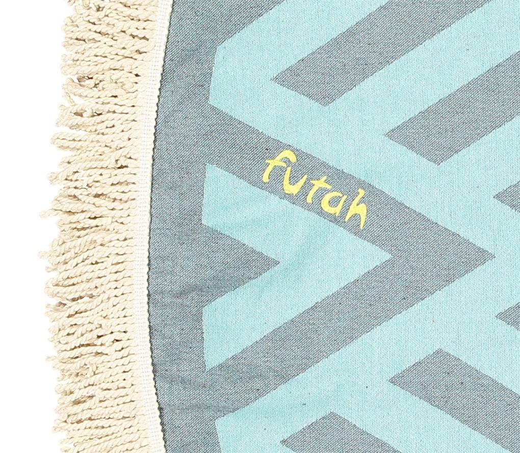 Futah_Beach_Towel_ROUND_Benagil_Mint&Grey;_3