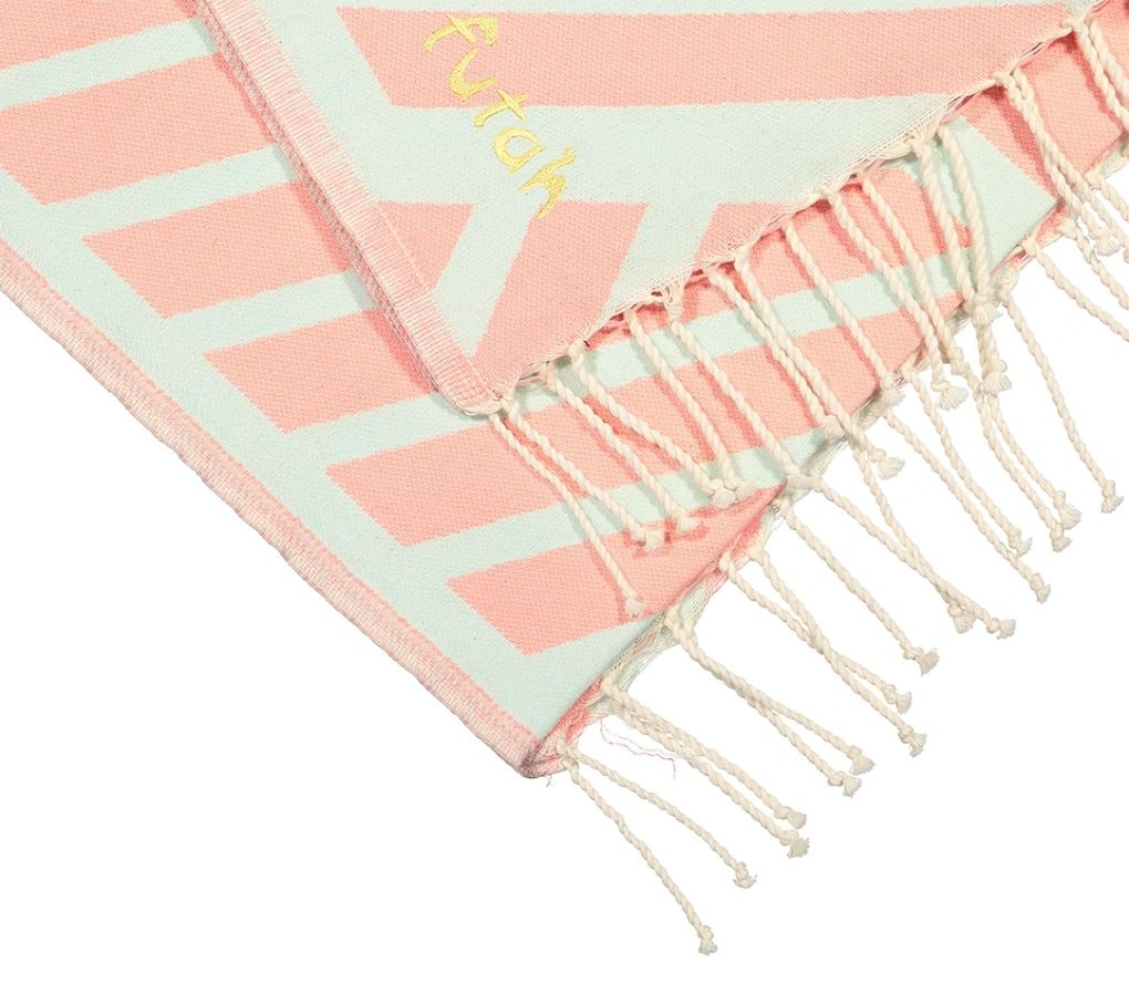 Futah_Beach_Towel_Comporta_Coral&Mint;_3