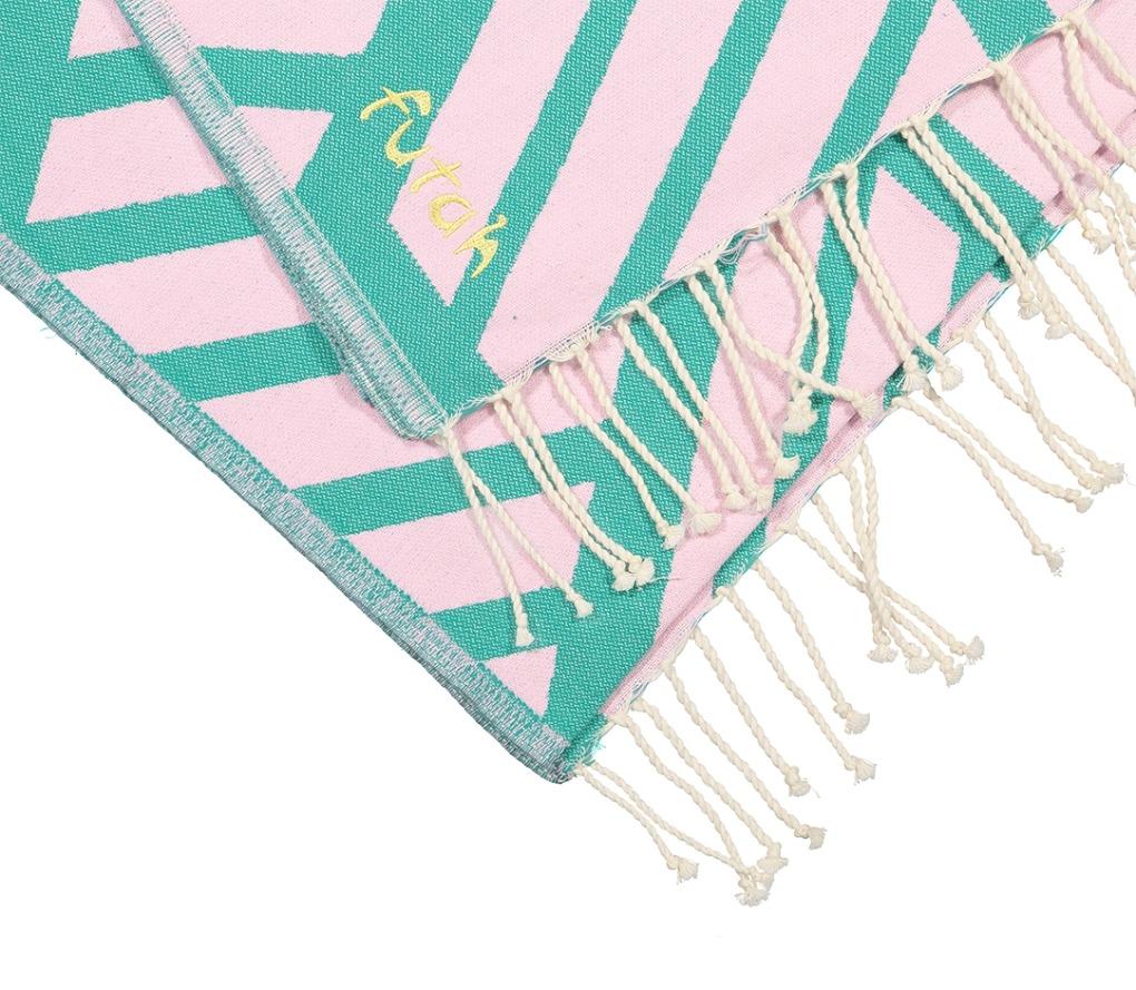 Futah_Beach_Towel_Comporta_Pink&Emerald;_3