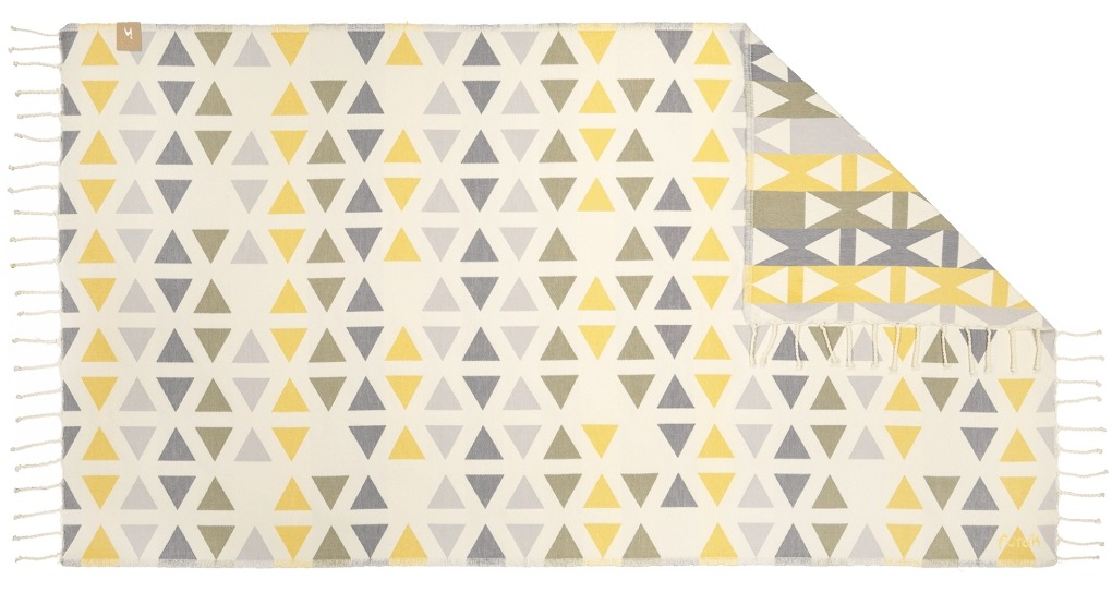 Futah_Beach_Towel_SantaBarbara_Yellow&Olive;_1_A
