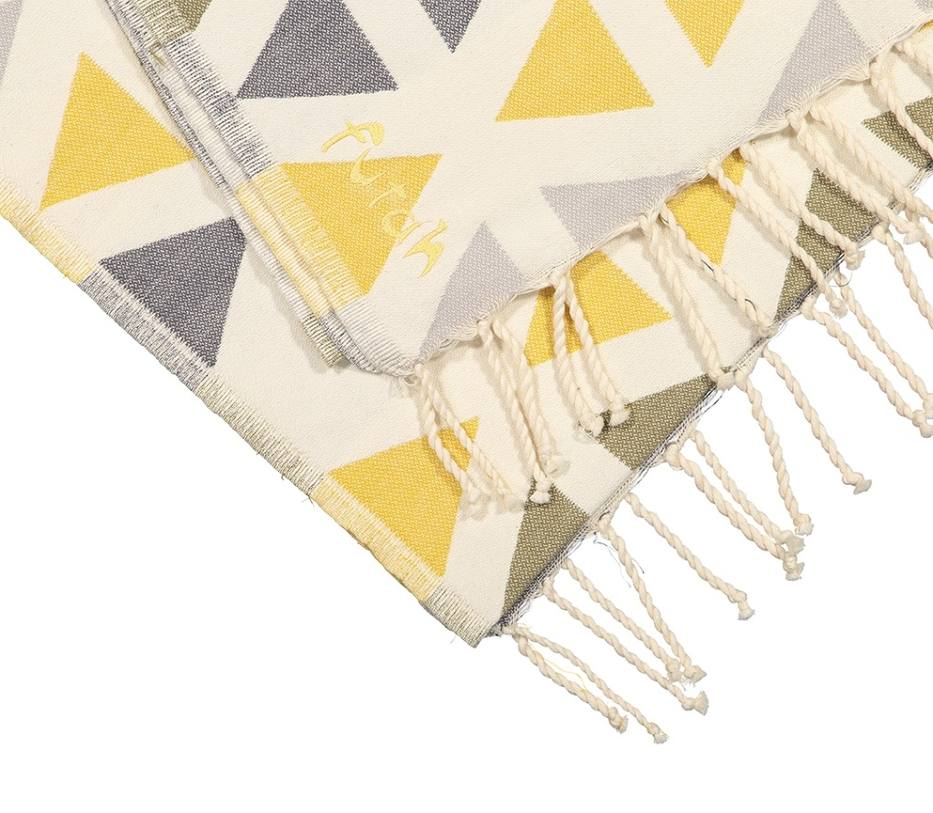Futah_Beach_Towel_SantaBarbara_Yellow&Olive;_3_A
