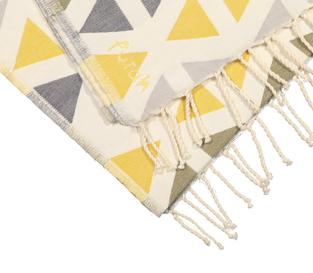 Futah_Beach_Towel_SantaBarbara_Yellow&Olive;_3_A