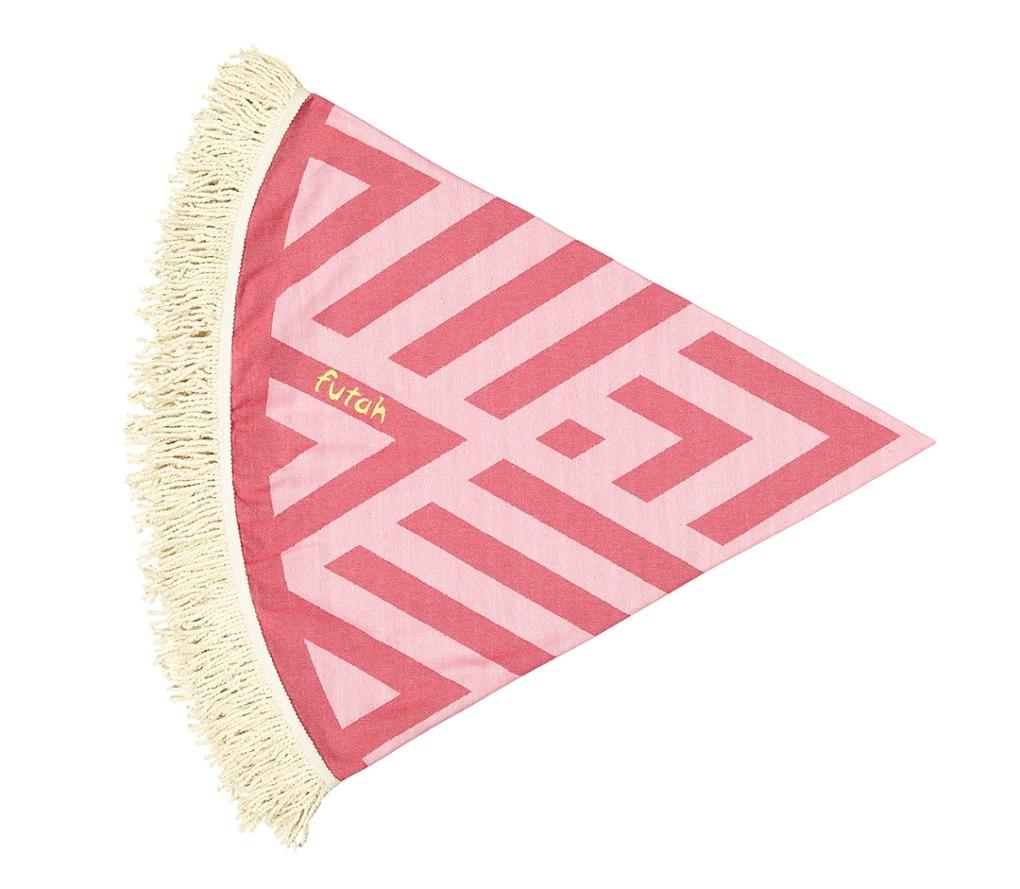 Futah_Beach_Towel_ROUND_Benagil_Pink&Red;_2