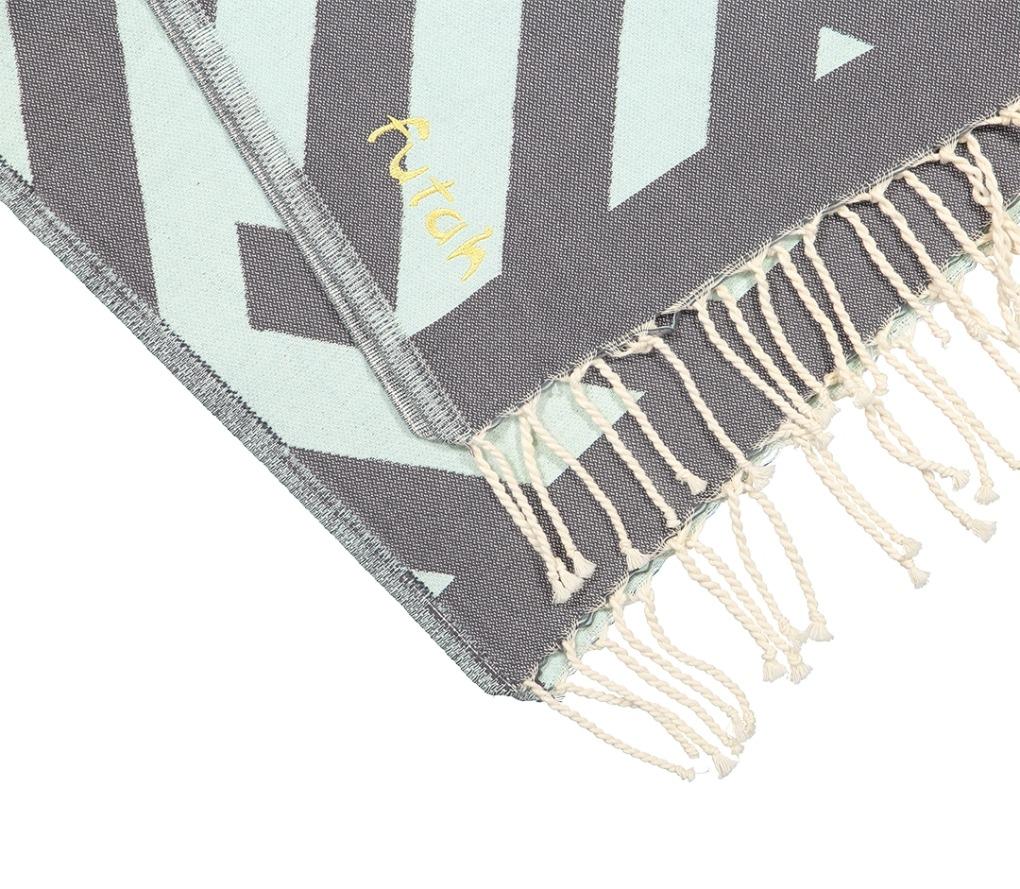 Futah_Beach_Towel_Benagil_Mint&Grey;_3