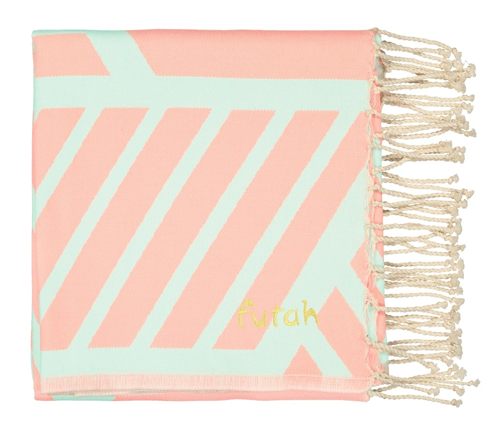 Futah_Beach Towel_Comporta_Pink_Mint_2_A