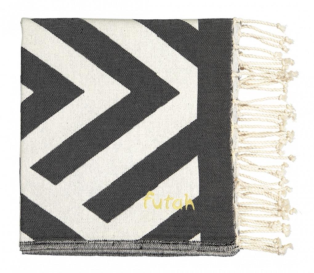 Futah_Beach Towel_Benagil_Black_White_2