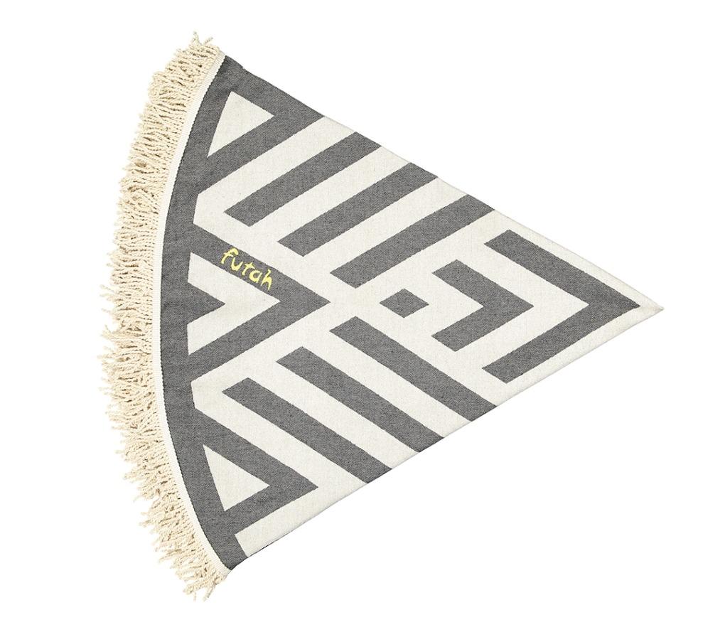 Futah_Beach_Towel_ROUND_Benagil_Black&White;_2