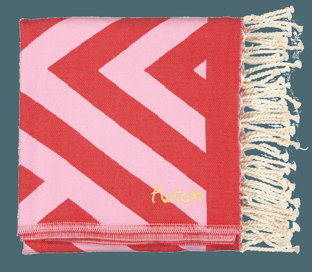 Futah_Beach Towel_Benagil_Pink_Red_2