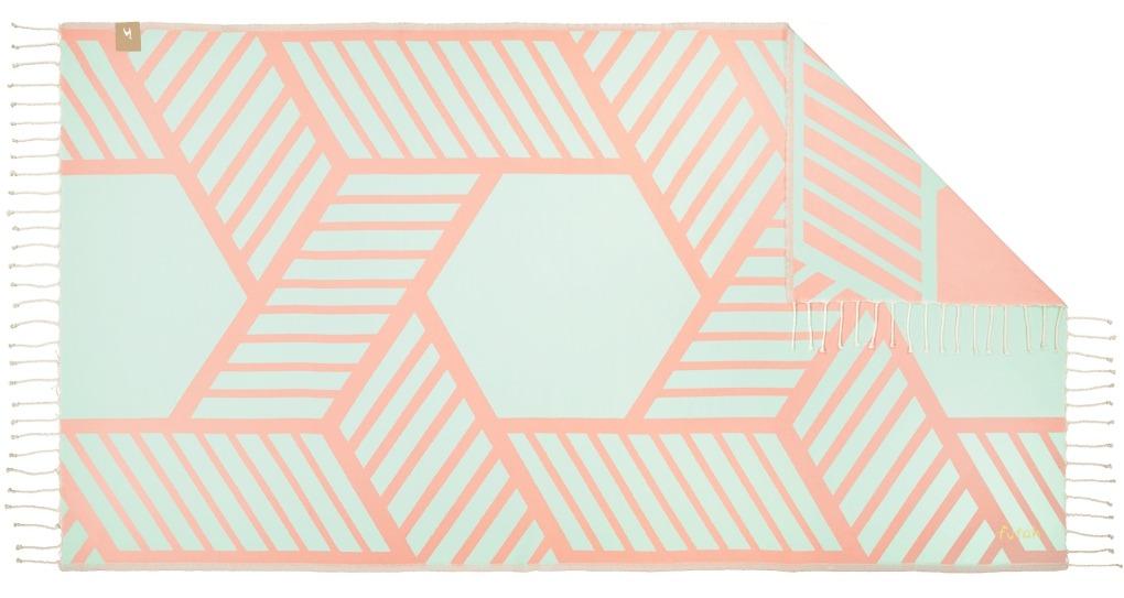 Futah_Beach_Towel_Comporta_Pink&Mint;_1_B