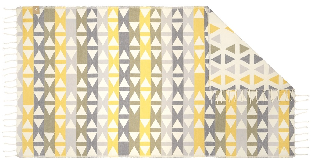 Futah_Beach_Towel_SantaBarbara_Yellow&Olive;_1_B