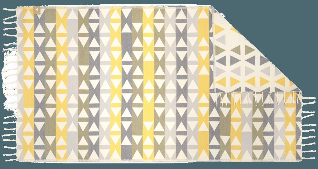 Futah_Beach_Towel_SantaBarbara_Yellow&Olive;_1_B