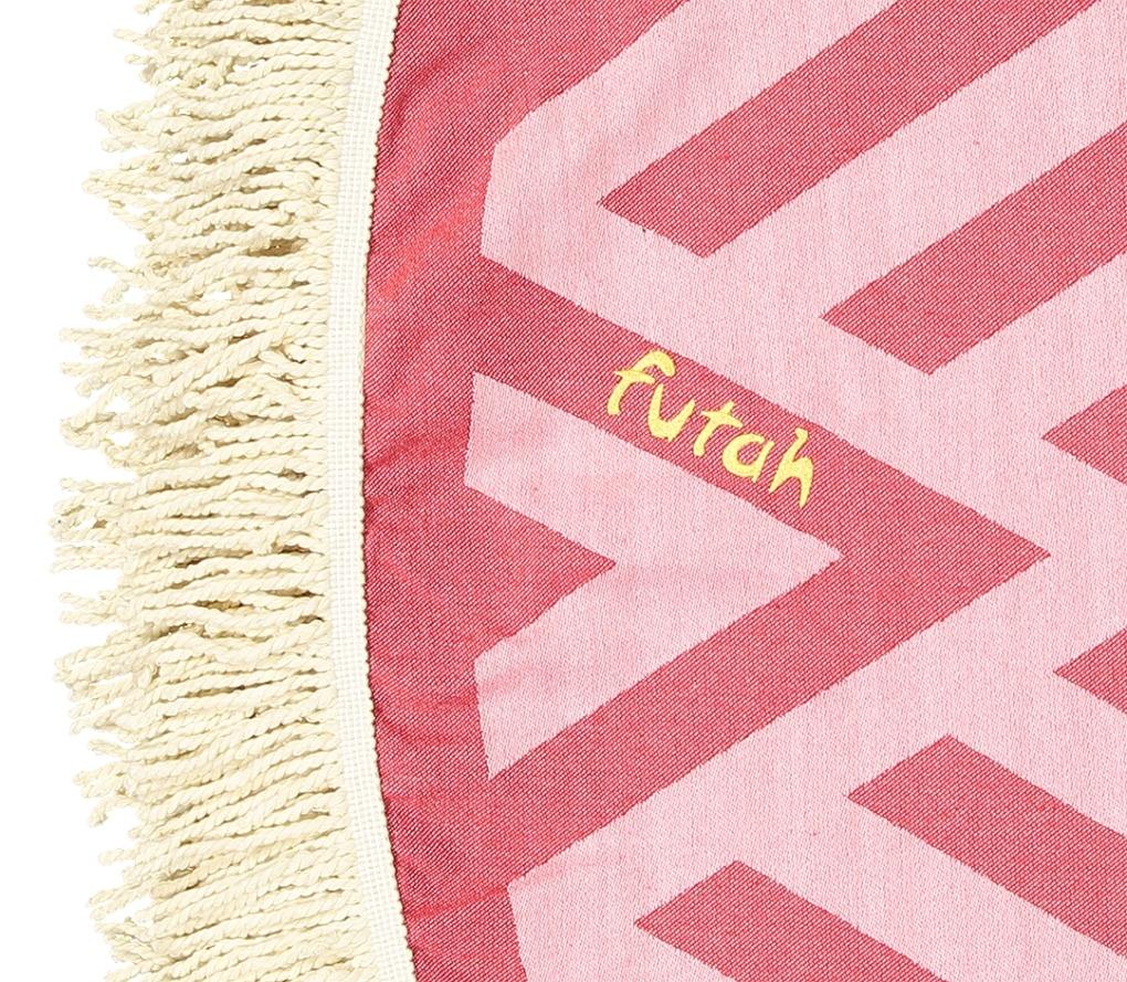 Futah_Beach_Towel_ROUND_Benagil_Pink&Red;_3