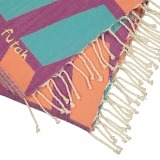 Futah_Beach_Towel_cova do vapor fuchsia & emerald_Detail_min
