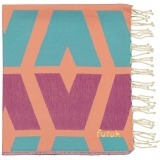 Futah_Beach_Towel_cova do vapor_ fuchsia & emerald _Folded_min