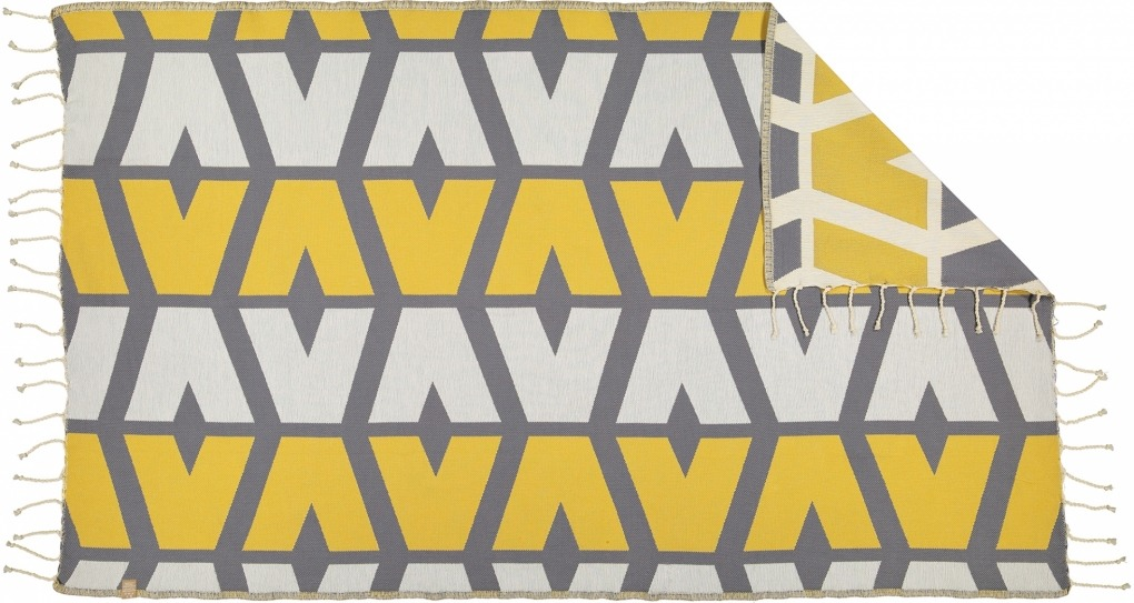 Futah_Beach_Towel_cova do vapor_ yellow & grey 2_Back