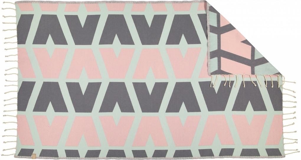 Futah_Beach_Towel_cova do vapor_ pink & grey 2_Back