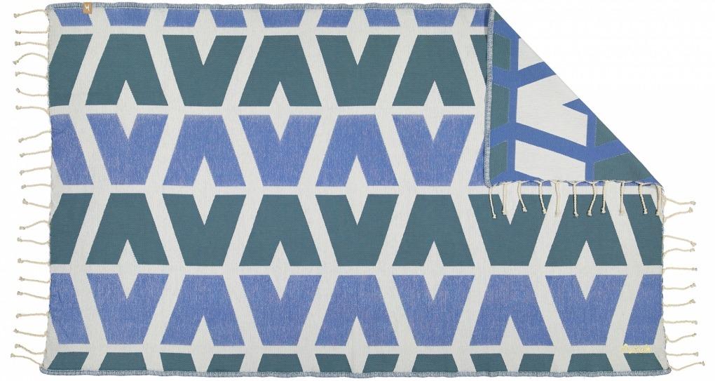 Futah_Beach_Towel_cova do vapor_ blue 2_Front
