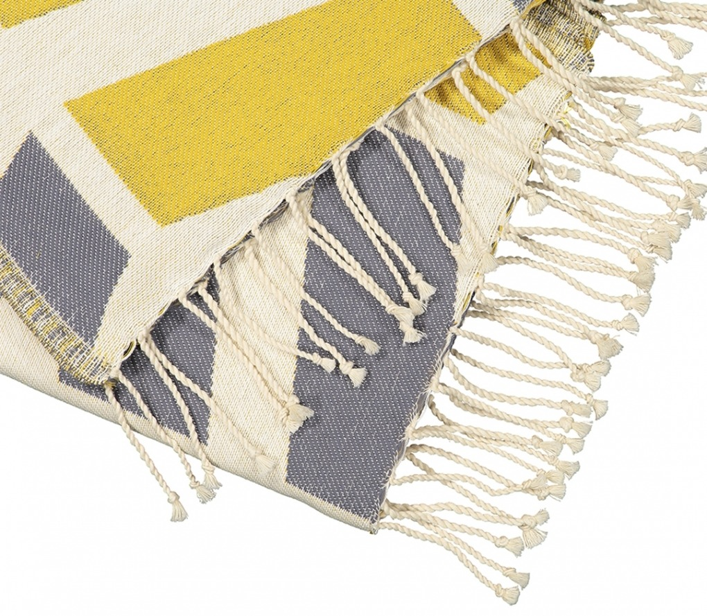 Futah_Beach_Towel_cova do vapor yellow and grey _Detail