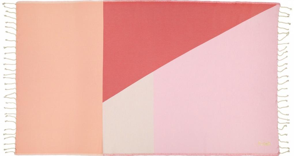 Futah_Beach_Towel_zambujeira pink & red - 2_Front