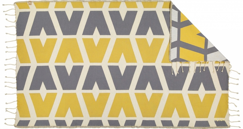 Futah_Beach_Towel_cova do vapor_ yellow & grey 2_Front