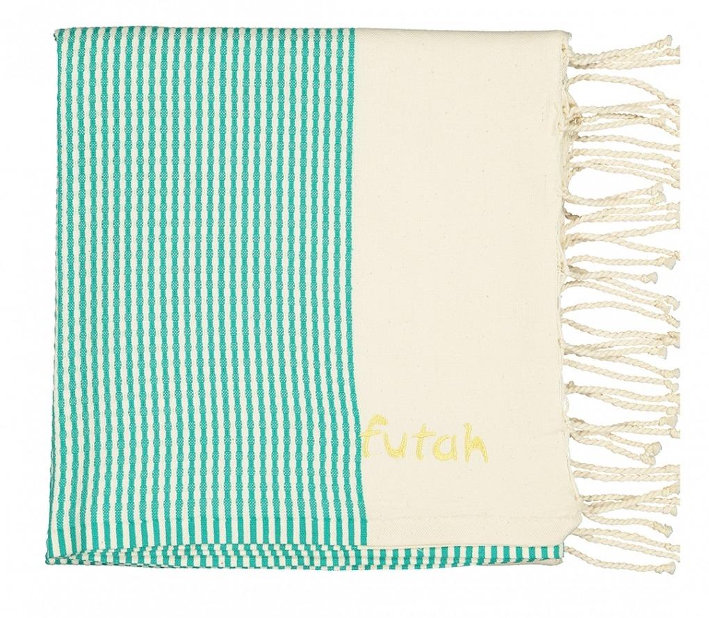 Futah_Beach_Towel_nazare emerald_Folded