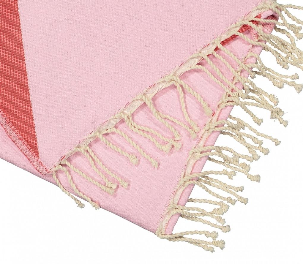 Futah_Beach_Towel_zambujeira pink & red _Detail