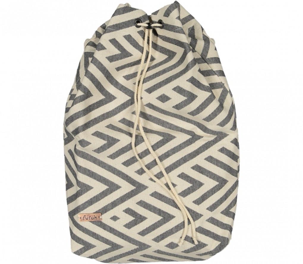 benagil 100% cotton backpackblack_Front_FUTAH