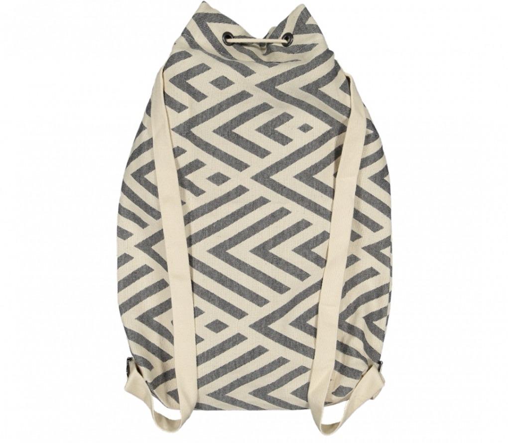 benagil 100% cotton backpack black_Back_FUTAH