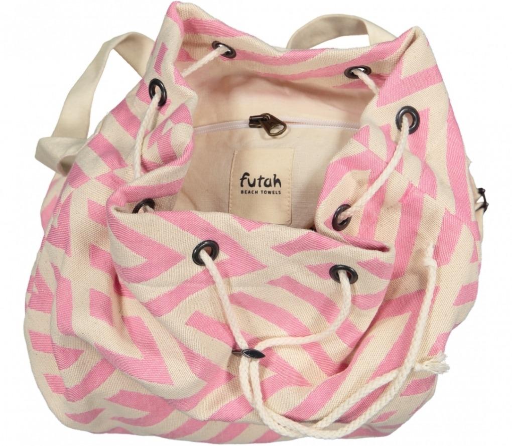 benagil 100% cotton backpack pink _Detail_FUTAH