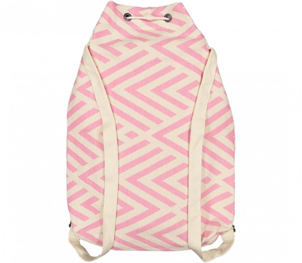 benagil 100% cotton backpack pink_Back_FUTAH