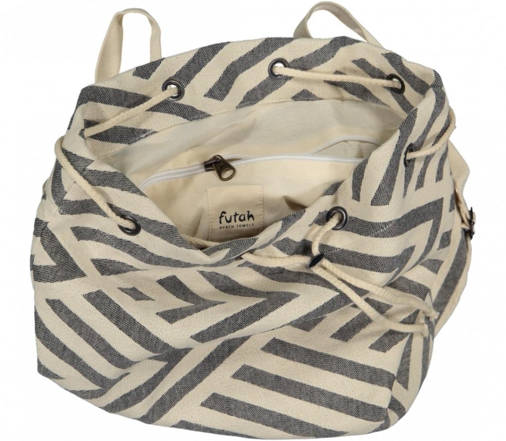 benagil 100% cotton backpack black_Detail_FUTAH