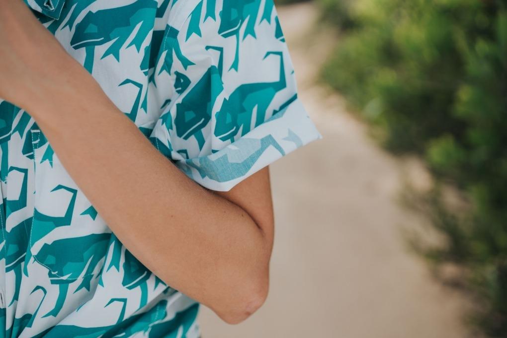 futah shirt Chamaeleo Lookbook 5 Jungle Green DSC09957
