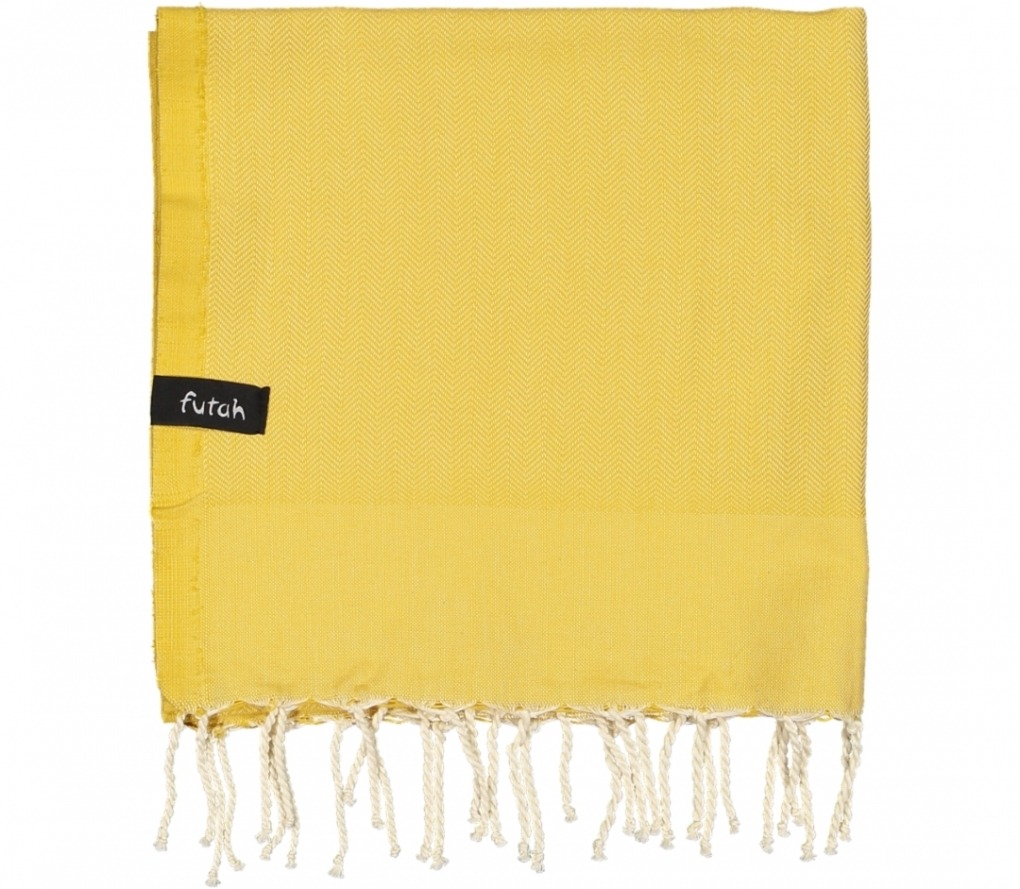 futah beach towels kids towel Ericeira Kids Towel Mustard Folded