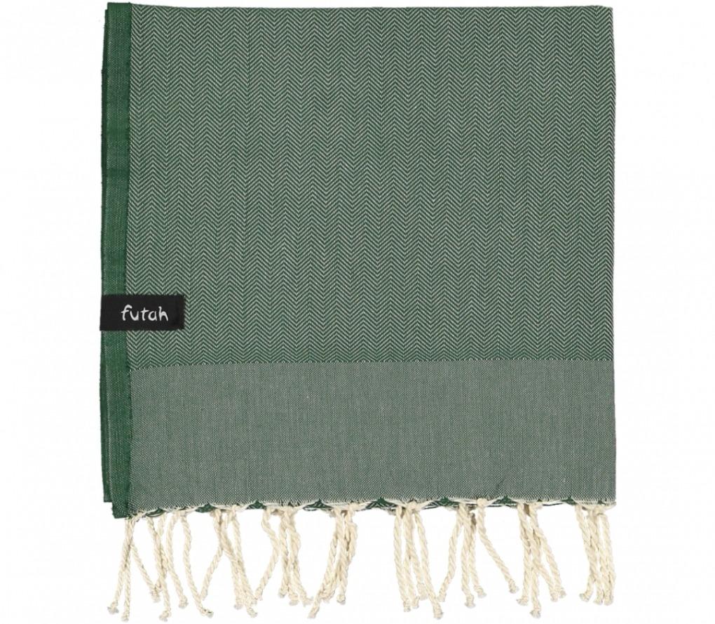 futah beach towels kids towel Ericeira Kids Towel Verdant Green Folded