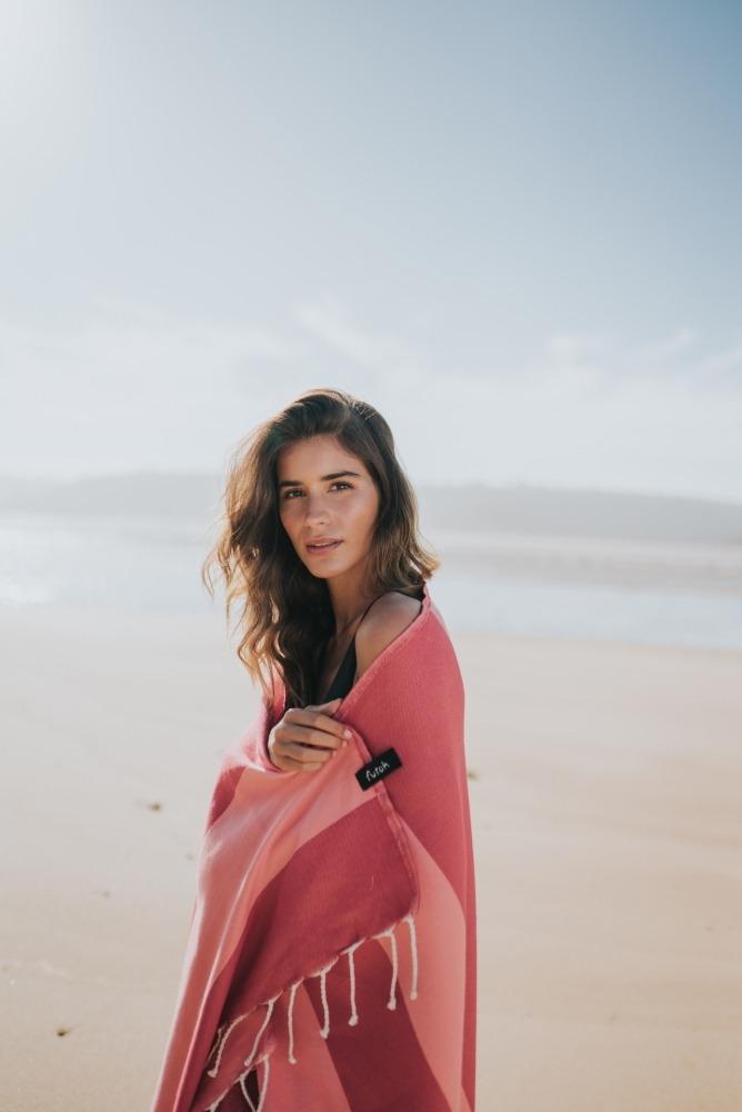 futah beach towels single Formosa Single Towel Coral Peach Lookbook 1