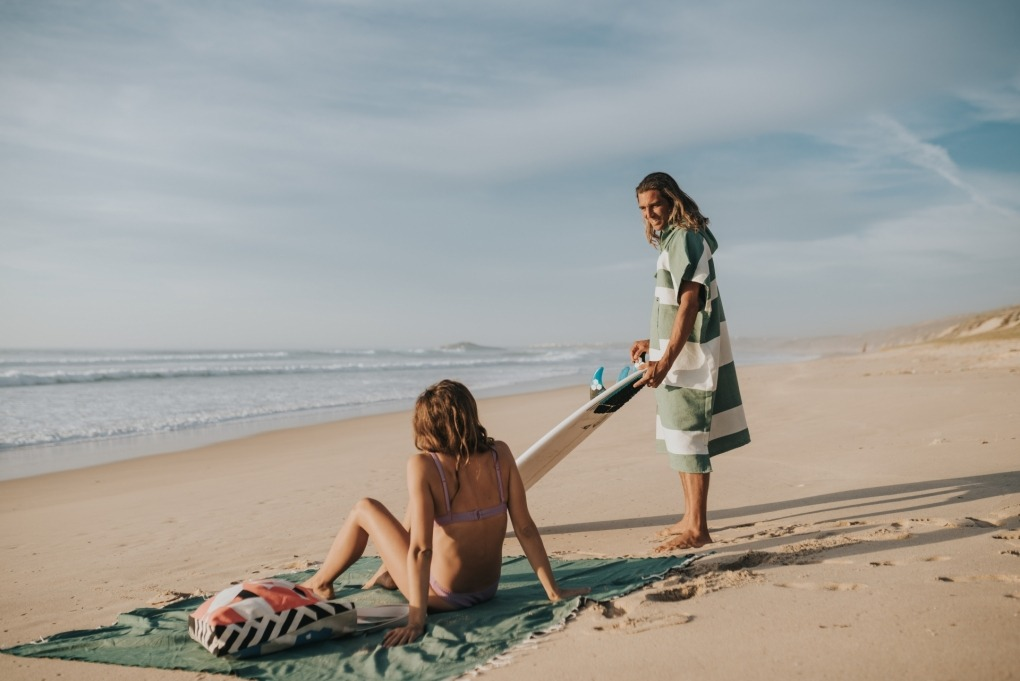 futah beach towels poncho Formosa Poncho Verdant Green Lookbook 1 DSC00501