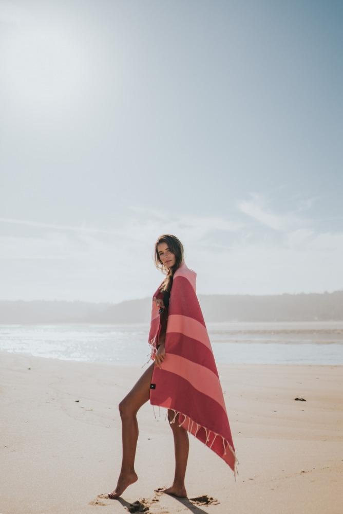 futah beach towels single Formosa Single Towel Coral Peach Lookbook 2 DSC07959